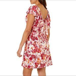 London Times Woman watercolor floral dress